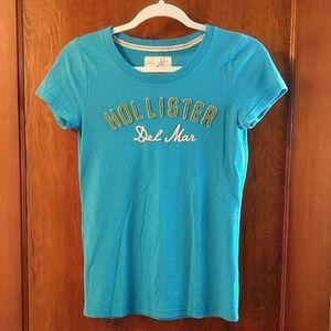 EUC Hollister blue t-shirt
